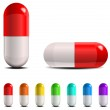 Pill capsules isolated on white backgraund...