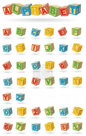 Photo for Alphabet on a baby cubes for your text - Royalty Free Image