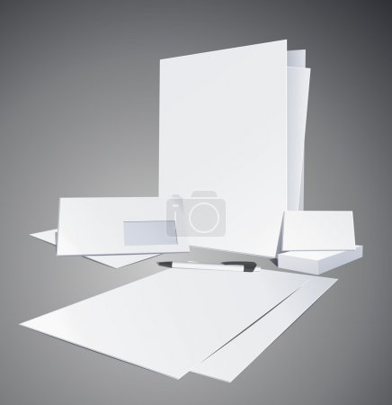 Corporate identity templates. Vector illustration