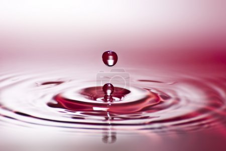 Red water environmental abstract background - red water drop spl