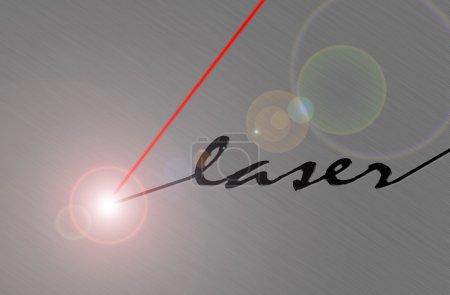 Photo pour Découpe laser métal brossé - image libre de droit