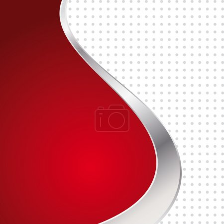 Illustration for Vector illustration colorful abstract background. Trendy red wave with metal frame. - Royalty Free Image