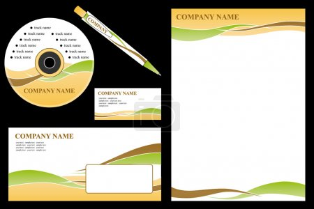 Photo for Vector easy editable - corporate identity template, business stationery set. - Royalty Free Image