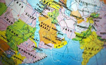 Photo pour Gros plan sur la zone Moyen Orient - image libre de droit