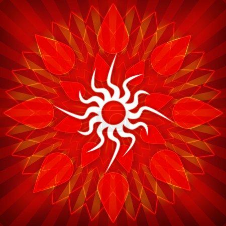 Sun grunge background