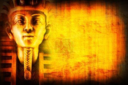 Photo pour Fond égyptien avec pharaon - image libre de droit