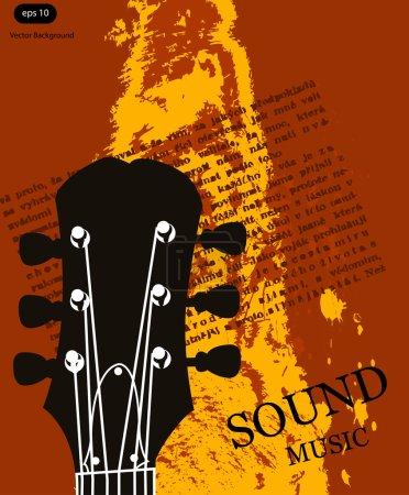 Illustration pour Affiche de musique vectorielle fond - image libre de droit