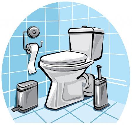 Illustration pour Toilettes, wc - image libre de droit