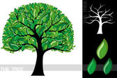 Illustration of a cartoon tree isolated on white background