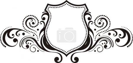 Illustration pour Crête avec des éléments de design de style vintage, utilisation pour logo, cadre, format vectoriel très facile à éditer, objets individuels - image libre de droit
