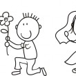 Set of isolated couple cartoon, ideal for funny we...