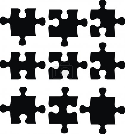 Blank puzzle pieces, image applicable to several concepts