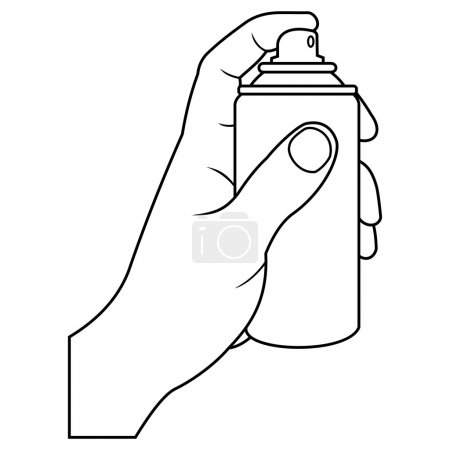 Illustration for Illustration of hand with spray - Royalty Free Image