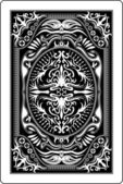 Design of back side of playing card