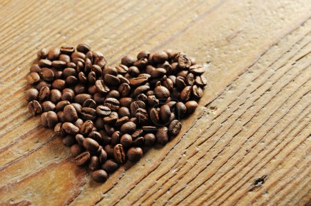 Symbol of Love, coffee beans