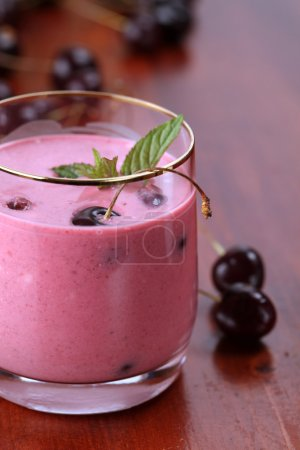 Cherry milk shake