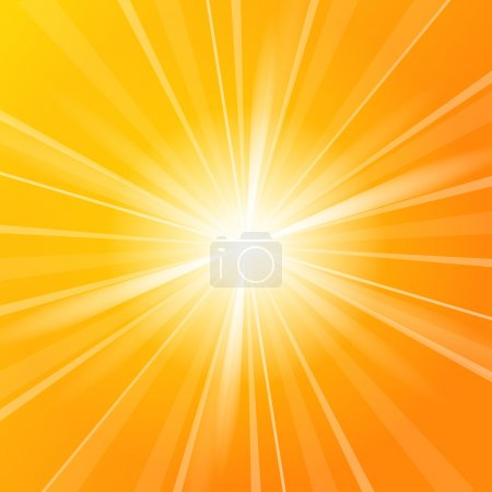 Sunshine vector background full of orange and yell...