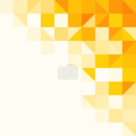 Illustration for Triangle and Square pattern in yellow and orange colors - Royalty Free Image