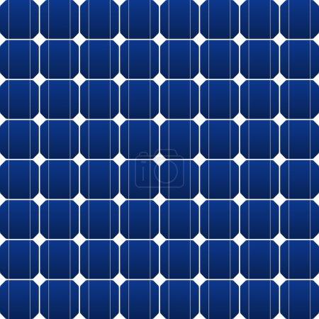 Illustration pour Panneau solaire plat en bleu comme illustration vectorielle - image libre de droit