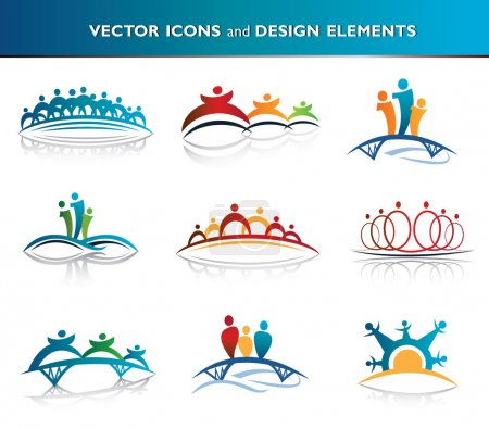 Illustration for Collection of abstract icons - Royalty Free Image
