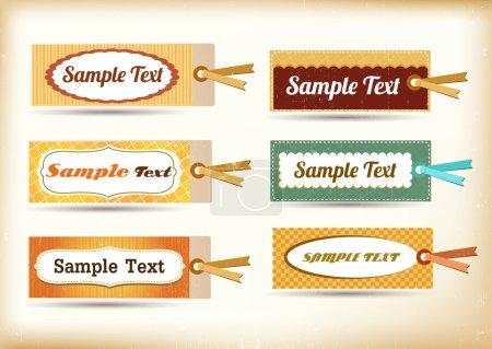 Ilustración de Etiquetas - Imagen libre de derechos