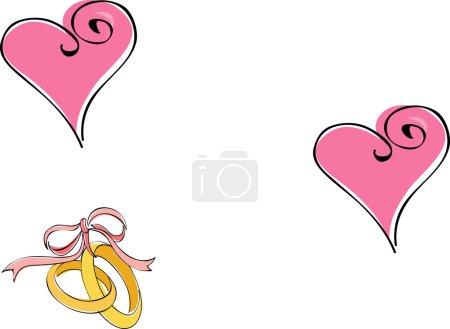 Photo pour Carte de mariage - image libre de droit