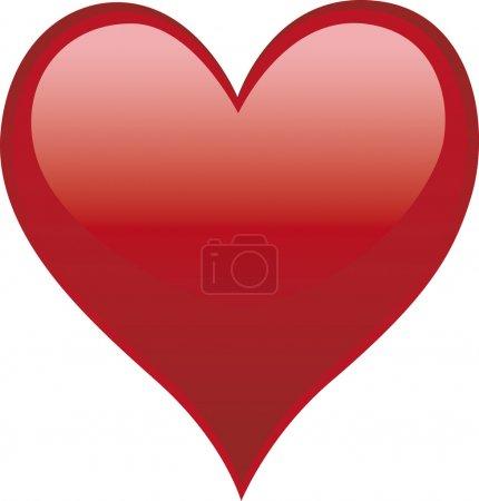 Photo pour Carte de Saint Valentin - image libre de droit