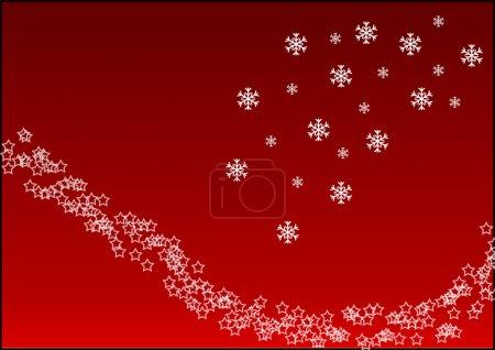 Photo for Fond de noël avec des flocons de neige - Royalty Free Image