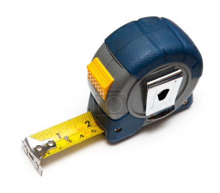 Photo for Carpenter's tape measure on white background - Royalty Free Image