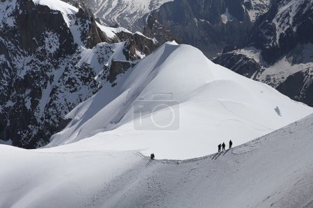 Mont Blanc climber in summer time...