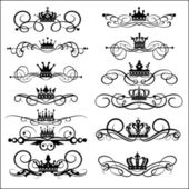 Victorian Scrolls and crown Decorative elements Vintage