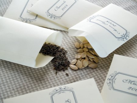 Seeds in packets