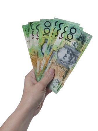 Australian money 100 dollar notes...