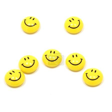 Sad face up of yellow smileys