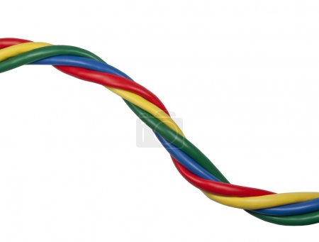 Brightly coloured twisted ethernet network cables