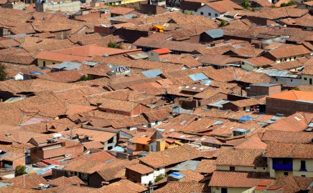 View of Roof Tops of Shanty Town in Cuzco