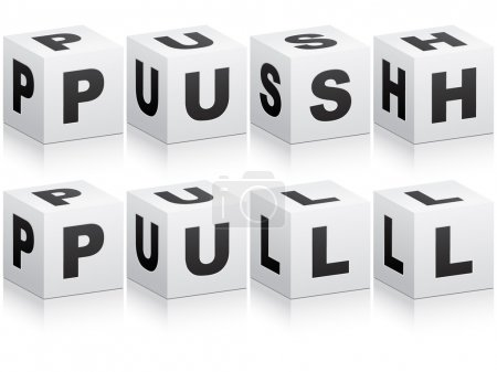Pull and push word