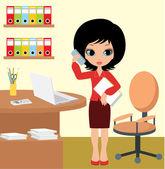 Pretty girl - business woman