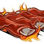 Barbecue ribs...