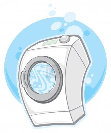 Illustration pour Machine à laver - image libre de droit