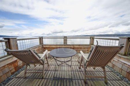 Waterfront Balcony on Whidbey Island, WA