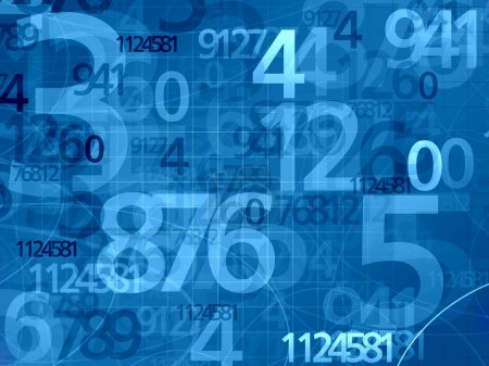 Blue numbers mathematical math background...