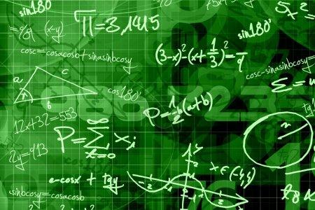 Photo pour Fond de math vert école - image libre de droit