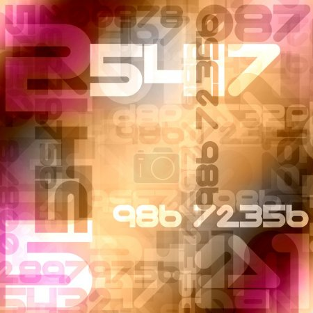 Colorful numbers background design...