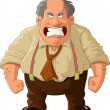 Angry boss on a white background, vector illustrat...