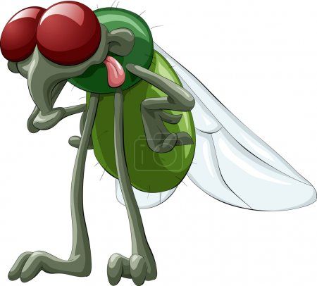 Illustration for Green fly with red eyes - Royalty Free Image