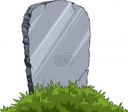 Grave of a white background, vector illustration...
