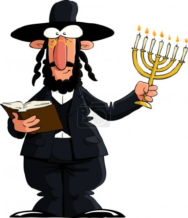 Jew on white background