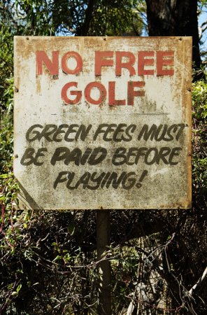 Photo for No free golf sign - Royalty Free Image