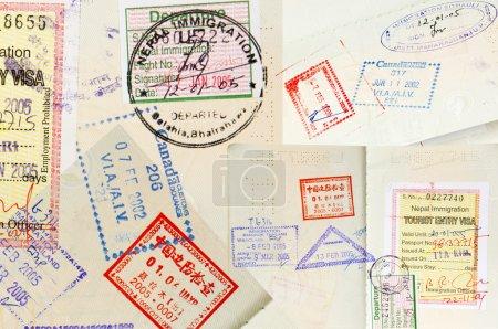 Passport Stamps Background